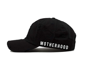 Motherhood Distressed Hat - Black