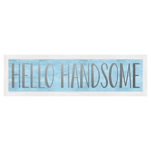 Metallic Framed Art - Hello Handsome