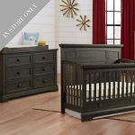 Highland Park Crib & Dresser Package - Charcoal (Boutique Exclusive!)