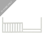 Highland Park Toddler Rail - White (Boutique Exclusive!)