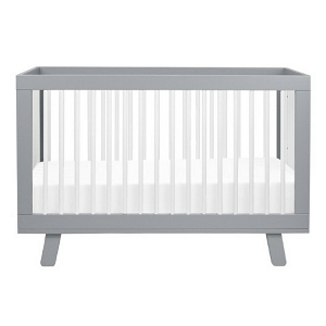 Babyletto Hudson 3-in-1 Convertible Crib - Grey & White