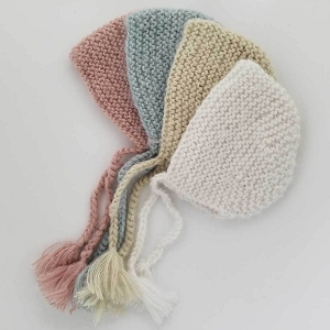 Newborn Angora Knit Bonnet - Multiple Colors