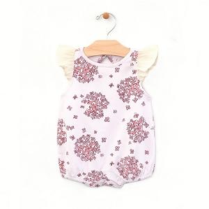 dc07617c3d1 PNW Baby Hydrangea Flutter Sleeve Bubble Romper - Lilac