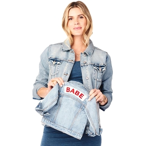 Babe Light Wash Denim Jacket