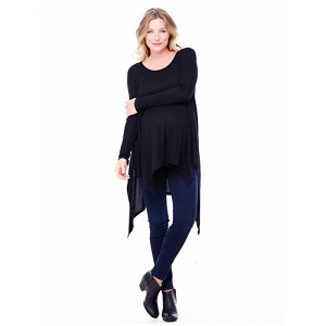 Handkerchief Tunic - Black