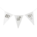 I'll Eat You Up I Love You So Canvas Banner - Grey