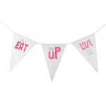 I'll Eat You Up I Love You So Canvas Banner - Pink