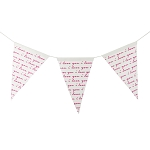 I Love You Canvas Banner - Pink