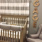 Liz and Roo Curtain Panels - Cabana Stripe Gray