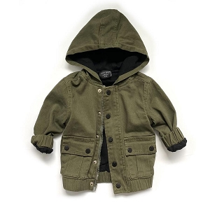 Military Green Hooded Jacket