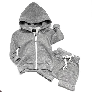 Grey Washed Zip Hoodie