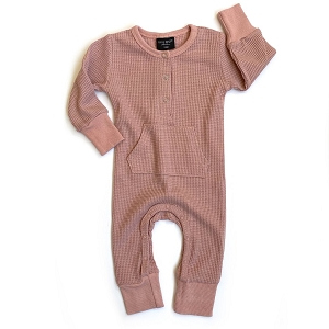 Long Sleeve Mauve Thermal Romper