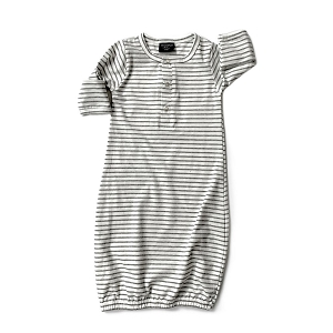 Grey Striped Baby Gown
