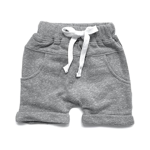 Grey Washed Harem Shorts