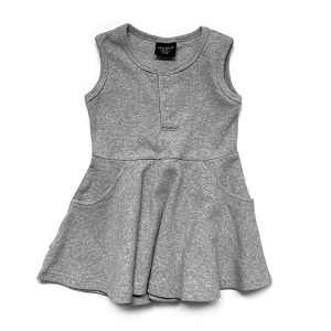Grey Ribbed Twirl Dress