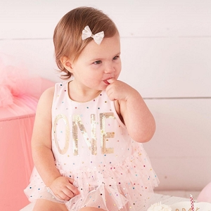 Mud Pie Confetti First Birthday Crawler