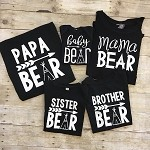 Bear Shirts for the Family - Black