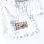 Personalized Heirloom Blanket - White