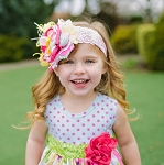 Spring Flowers Boutique Headband