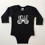 Hello 2017 Shades Long Sleeve Onesie