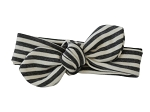 Grey Stripes Knot Headband