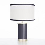 Oilo Indigo Table Lamp with Gold Finish