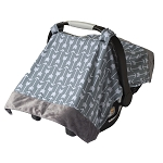 Car Seat Canopy & Tummy Time Mat - Swift Arrows