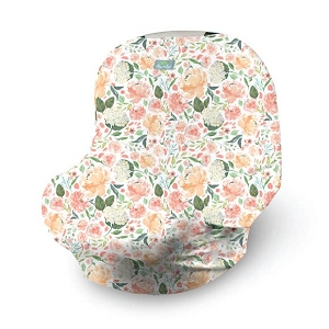 Mom Boss Multi Use Cover - Peach Floral