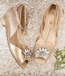 Joyfolie Arabella Kitten Heel in Gold