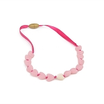 Juniorbeads Spring Heart Necklace - Bubble Gum