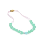 Juniorbeads Spring Heart Necklace - Spearmint