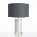 Oilo Linen Table Lamp with Gold Finish