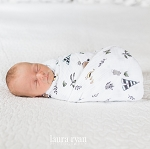 Little Unicorn Cotton Swaddle - Forest Friends