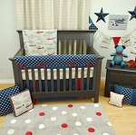 Navy Flight Crib Bedding - 2pc Set