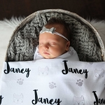 Personalized Swaddle Blanket - Friendly Fox