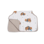 Little Unicorn Muslin Burp Cloth - Bison