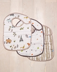 Little Unicorn Classic Bib Set - Forest Friends