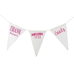 Thank Heaven for Little Girls Canvas Banner - Pink