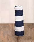 Little Unicorn Cotton Swaddle - Navy Stripe