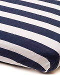 Little Unicorn Muslin Crib Sheet - Navy Stripe