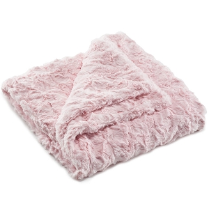 Liz and Roo Faux Fur Security Blanket - Bella Pink