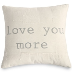 Love You More Canvas Pillow