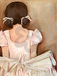 Lovely Ballerina Canvas Reproduction