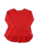 RuffleButts Bow Back Long Sleeve - Red