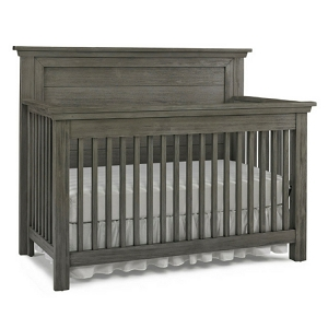 Dolce Baby Lucca Flat Top Full Panel Crib - Weathered Grey