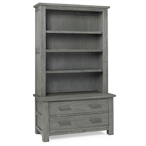 Dolce Babi Lucca Hutch w/ 2 Drawer Chest - Weathered Grey