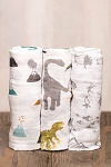 Little Unicorn Cotton Swaddle Set - Dino Friends