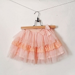 Maeli Rose Peach Ruffle Skirt