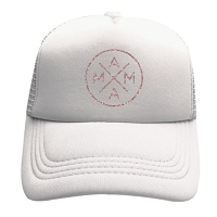 Tiny Trucker Hat - Mama X Rose Gold White