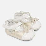 Mayoral Baby Girl Gold & Ivory T-Strap